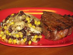 BBQ Steak with Balsamic Veggie and Bean Salad- 460 calories | Lose Weight by Eating!