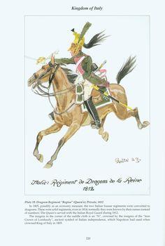"Kingdom of Italy: Plate Dragoon Regiment ""Regina"" (Queen's), Private, 1812 Kingdom Of Naples, Kingdom Of Italy, Empire, Italian Army, National History, French Army, France, Napoleonic Wars, Modern Warfare"