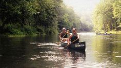 Friends canoeing in Hot Springs