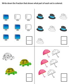 math worksheet : 1000 images about grade one math on pinterest  fractions first  : Fraction Worksheets Grade 2