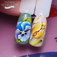 Nail Art Designs, Flower Nail Designs, Flower Nail Art, Fruit Nail Art, 3d Nail Art, Spring Nails, Summer Nails, Nail Art Fleur, Beautiful Nail Designs