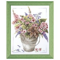 Pail of Flowers Counted Cross Stitch Kit