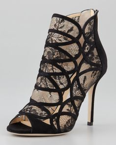 047231899fb8 Jimmy Choo Black Fauna Lacesuede Cage Sandals