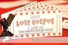 idee san valentino fai da te, biglietti san valentino da stampare,