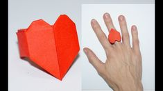 Valentine's Origami Tutorial: Lovers Ring. Origami Heart Ring  Instructions. DIY beauty and easy