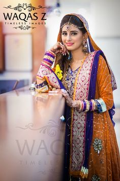 Mehndi bride, photography by waqas z