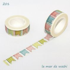 Washi Tape banderines Tapas, School Supplies, Craft Supplies, Masking Tape, Washi Tapes, Washi Tape Planner, Duck Tape Crafts, Cute Stationary, School Items