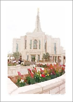 Gilbert LDS Temple Watercolor Art{Free Printable!}