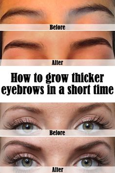If you want to correct your eyebrows' shape, you should make them thicker first. For quick results read the article below.