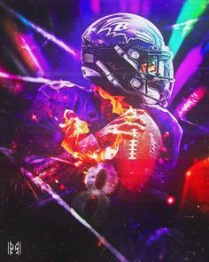 Lamar Jackson's first two games this seaso Nfl football art