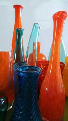 My blue-orange glass collection
