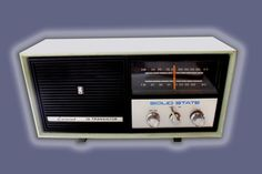 1974 radio restored - mint green   Vintage restored wood and collectibles by Rachel Machalani, via Behance
