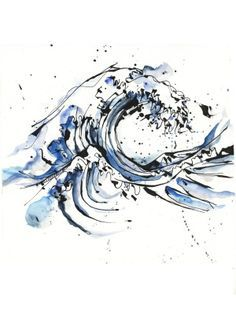 Watercolour wave. surf, surfing, surfer, surfers, waves, big waves, barrel…