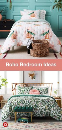 Free-spirited & chic, bohemian-inspired bedrooms are perfect for any space—master, teen or guest. From minimalist to lavish, find richly colored decor and boho bedroom ideas that fit your style. Dream Rooms, Dream Bedroom, Bedroom Decor, Bedroom Ideas, Bedroom Designs, Decoration Design, Apartment Living, Living Rooms, My New Room