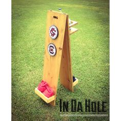 New custom score tower from In Da Hole. One of a kind features not available on other score boards.