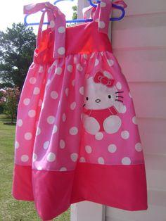 .Hello Kitty dress for girls