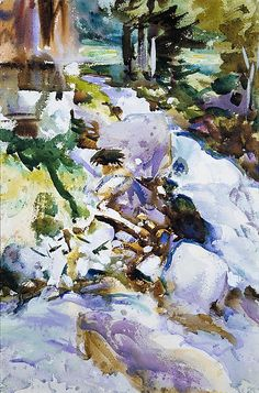 Rushing Brook / John Singer Sargent / ca. 1904–11 / Watercolor, gouache, and graphite on off-white wove paper