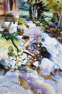 John Singer Sargent (American, Florence 1856–1925 London)  Rushing Brook