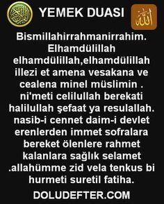yemek duası arapça türkçe My Prayer, English Vocabulary, Quran, Diy And Crafts, Prayers, Religion, Faith, Quotes, Baby Knitting