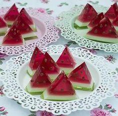 Arbuz z galaretki - deser dla dzieci