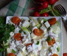 Sałatka serowa z sosem rzodkiewkowym Grilling, Chicken, Meat, Food, Crickets, Essen, Meals, Yemek, Eten