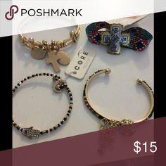 BUNDLE OF 4 FASHION BRACELETS BUNDLE OF 4 FASHION BRACELETS Jewelry Bracelets