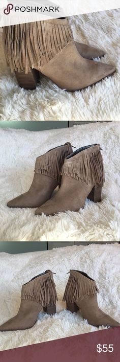 NWT Kenneth Cole Boots with Fringe Kenneth Cole Boots -Beige With Fringe. Super Cute Size 9 M Kenneth Cole Reaction Shoes Ankle Boots & Booties