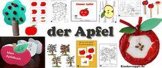 Apfel Bastelideen, Spiele, Lieder fur Kindergarten und Kita