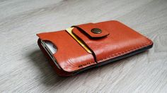 Leather Iphone 4/4S cover van NHLdesign op Etsy