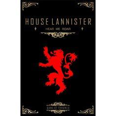 Resultado de imagem para quadros casa lannister
