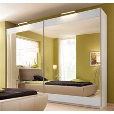 Armoire penderie moderne de 2 à 3 portes coulissantes miroir ...