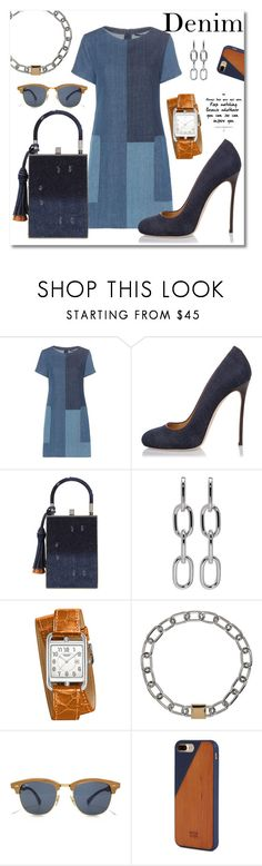 """Denim outfit"" by nicole-christie-mennen ❤ liked on Polyvore featuring J Brand, Dsquared2, Jill Haber, Alexander Wang, Hermès and Native Union"