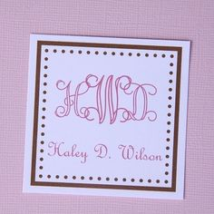 Personalized Square gift / calling cards  set of 12 by mccaligiuri, $8.00