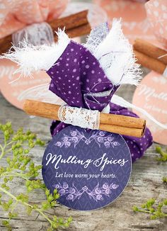 DIY Mulling Spice Wedding Favor : with instructions an dpics . Homemade Wedding Favors, Personalized Wedding Favors, Wedding Favors For Guests, Wedding Favor Tags, Unique Wedding Favors, Wedding Crafts, Diy Wedding, Autumn Wedding, Wedding Ideas
