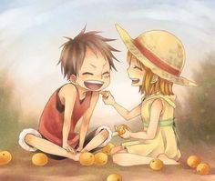 .Luffy and Nami  -One Piece