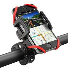 LifeHelper Bike / Bicycle Phone Mount Universal Cradle Clamp Rubber Strap 360 Degrees Rotatable with One-button Release Design -- Want to know more, click on the image.