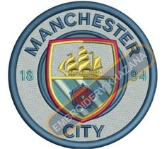Manchester_City logo machine embroidery design