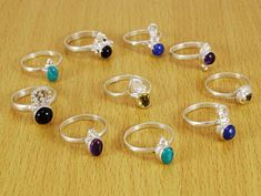 Banithani Amazing Multi Gemstone Ring Band Lot Of 10 Pcs Silver Plated Fashion Jewelry ** To check out even more for this thing, check out the picture link. (This is an affiliate link). Picture Link, Band Rings, Jewelry Sets, Silver Plate, Gemstone, Silver Rings, Fashion Jewelry, Amazing, Check
