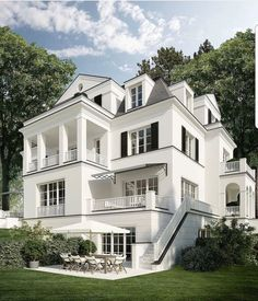 📌 34 Samples Of Modern Houses Most Popular Exterior Design Exterior Renovation Ideas That Are Right For Your Home 8 Dream Home Design, My Dream Home, Dream Home Plans, Dream Big, Cute House, Dream House Exterior, House Exteriors, White Home Decor, White Houses