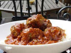 Boulettes de boeuf sauce tomate Cyril Lignac: www.lesgourmandisesdesarah.com