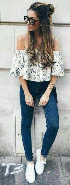 Perfect And Fantastic Trending Summer Outfits 2017 96 Look Fashion, Teen Fashion, Fashion Clothes, Fashion Outfits, Spring Fashion, Womens Fashion, Fashion Black, Fashion Trends, Fashion 2017