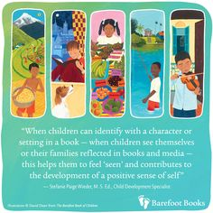 Quote about the book with illustration from the book.