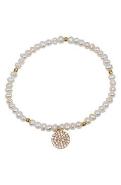stretch bead bracelet / argento vivo
