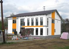 Fassadengestaltung, Farbgestaltung, Architekturfarbe, Fassadenfarbe - Kreative Fassaden - René Schuch GmbH