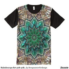 Kaleidoscope Art 40A-40B Options All-Over Print T-shirt