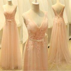 Long Prom Dress with V Neckline pst0456 – BBtrending