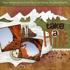 Take a Hike Cover Rugged Digital #Scrapbooking Project from Creative Memories    www.creativememor...