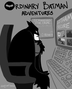Feeds his cute cat addiction. | 24 Things Batman Does When He's Not Fighting Crime  just for you @Marie Squyres