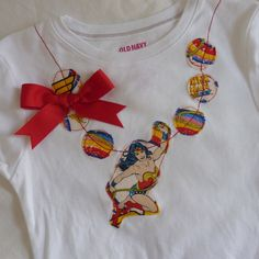 Wonder Woman Superhero  Party like its your Birthday Necklace Shirt / Onesie.