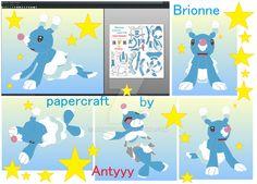 Brionne pokemon papercraft by Antyyy.deviantart.com on @DeviantArt